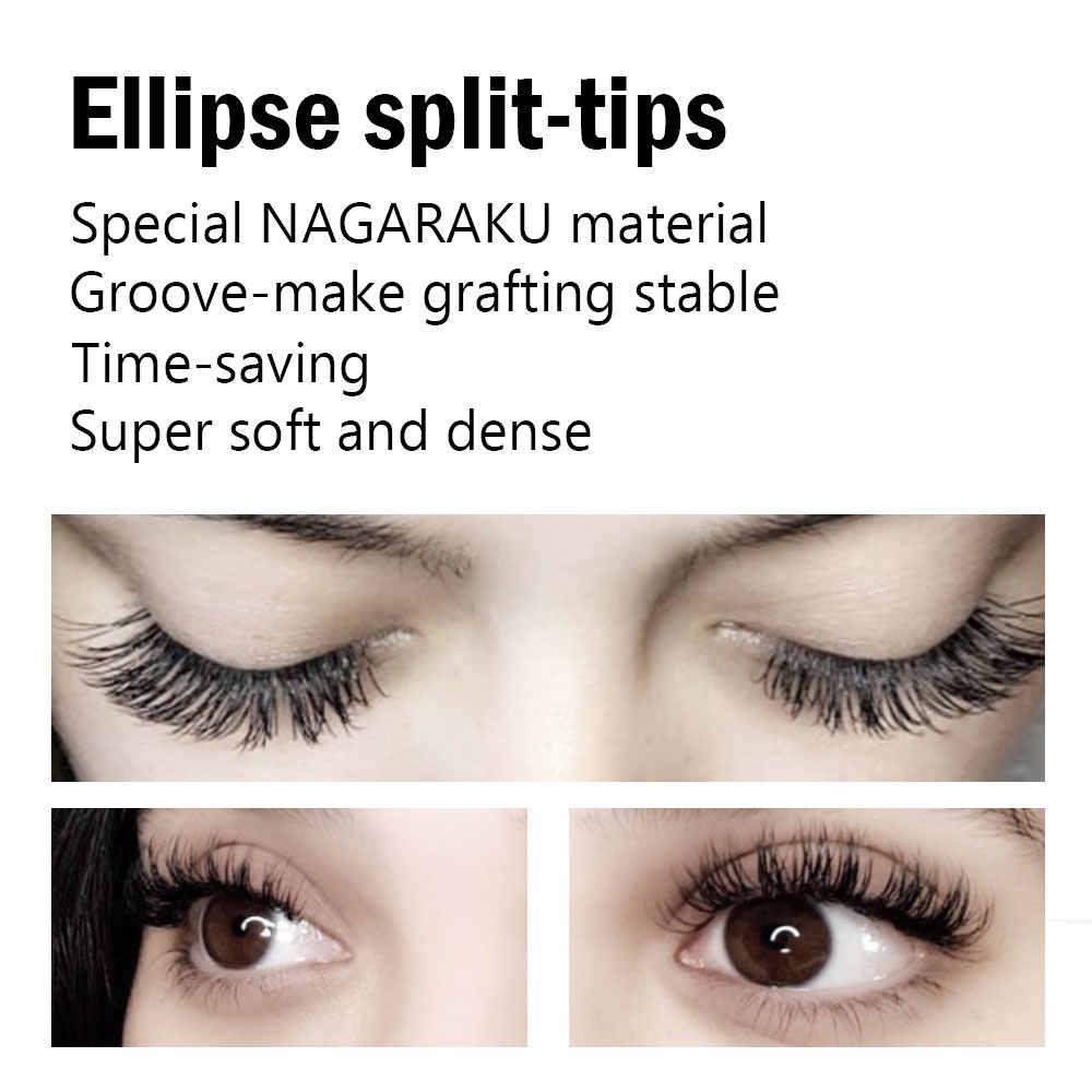 1d3ae6b8f56 ... NAGARAKU 6trays/Lot saving time high-quality oval flat eyelash extension  ellipse lashes groove ...
