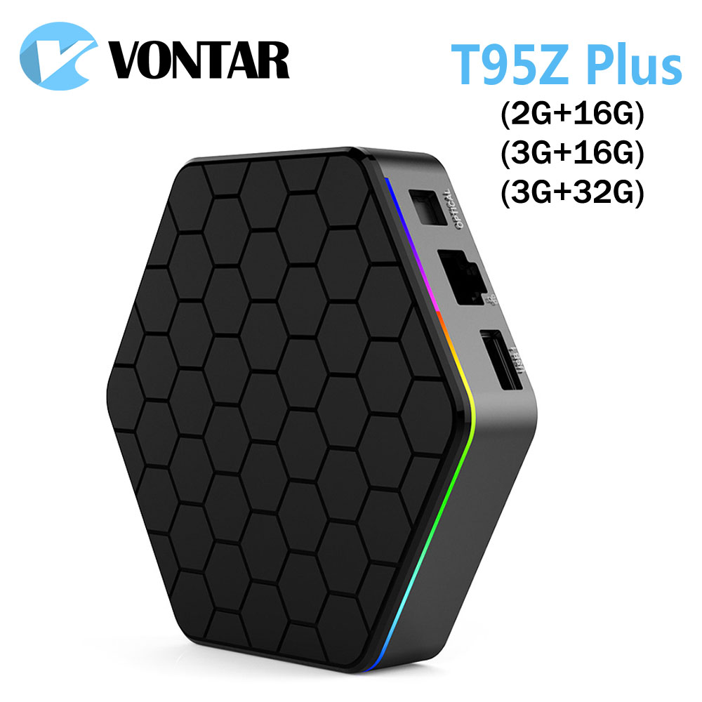 10pcs VONTAR T95Z Plus 2GB/3GB 16GB/32GB Andorid 7.1 TV BOX Amlogic S912 Octa Core 2.4G/5GHz BT4.0 4K H.265 Smart TV box цены онлайн