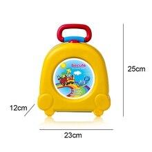 Детский дорожный маленький размер, для туалета, детский портативный туалет для путешествий, портативный автомобильный портативный туалет, желтый