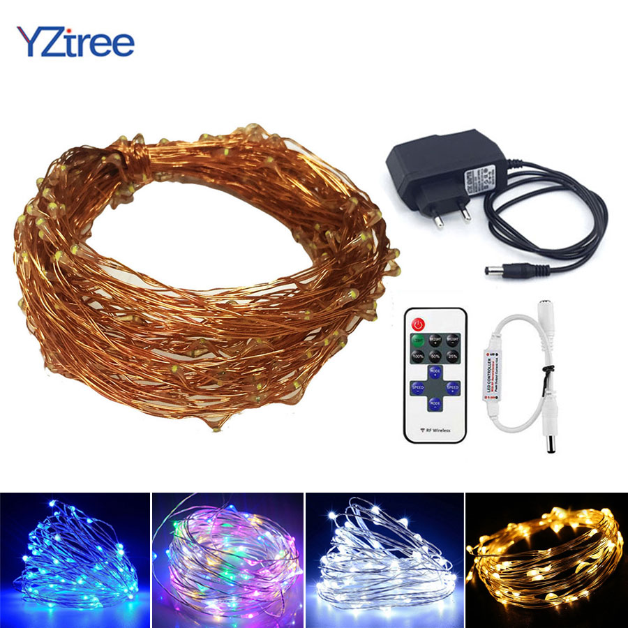 30M 50M LED Christmas Copper Silver Wire String Light DC 12V Remote Control Fairy Lights Xmas Tree Party Wedding Home Decor Lamp