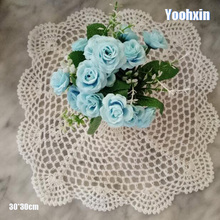 HOT cotton placemat cup coaster mug kitchen wedding dining table place mat cloth lace Crochet tea drink doily Handmade dish pad