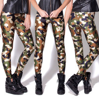 And American Fashion High Stretch Leggings Military Style Camouflage Pants Leggings Factory Direct Digital Printing