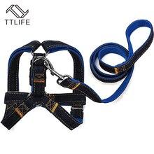 TTLIFE 2015 New Arrival Hot Sales S/M/L Colorful Jean Denim Leash Harness Dog Collar Chain Cat Rope Belt Adjustable Dogs