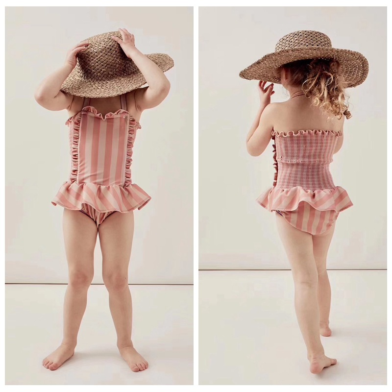 NEW ARRIVAL GIRLS SWIM STRIPED SWIM WEARS TINY GIRLS CLOTHING VESTIDOS FAMILY MATCHING CLOTHES BABY SHORTS