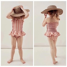 NEW ARRIVAL GIRLS SWIM STRIPED WEARS TINY CLOTHING VESTIDOS FAMILY MATCHING CLOTHES BABY SHORTS