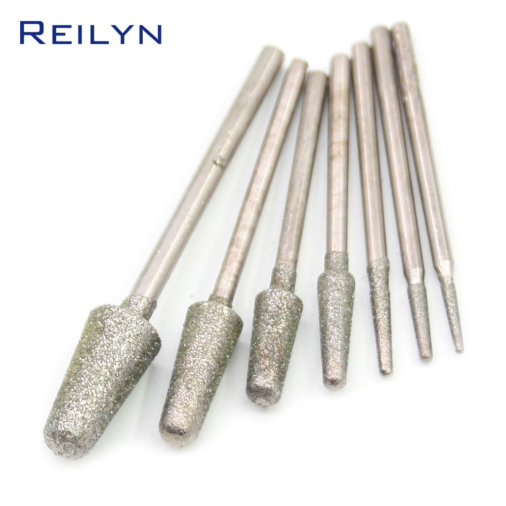 24/36 Piece 2.35mm Fine Grade B-Type Diamond Abrasive Bits Grinding Burr Teeth Grinding Bits For Die Grinder Dental Machine