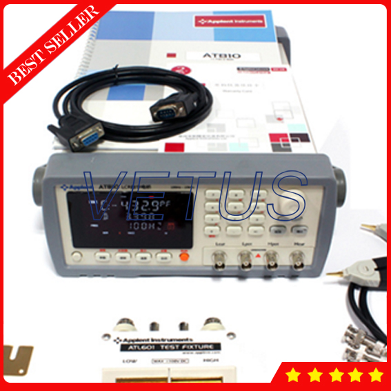 AT810 Accuracy 0.1% Digital LCR Meter Frequency 100Hz 120Hz 1kHz 10kHz Digital Resistor machine