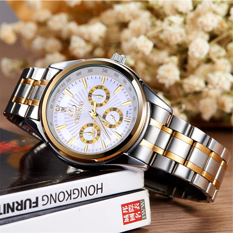 CHENXI Brand Calendar Gold Quartz Watches Men Luxury Hot SALE Wristwatch Golden Clock Male Watch men saat Relogio Masculino 2534 hot sale luminous men watch luxury brand watches quartz clock fashion leather belts watch cheap sports wristwatch relogio male