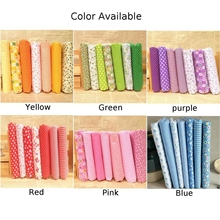 7pcs/kit Mixed Fabrics Scraps Offcuts Quilting Quilt Fabric Pre-Cut Fat Quarters 100% Cotton Material 25*25cm Bundle New Fabric woodworking from offcuts