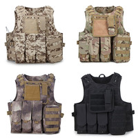 Camouflage Airsoft Tactical Hunting Vest Molle Men Waistcoat Combat Assault Plate Carrier Hunting Jungle Vest