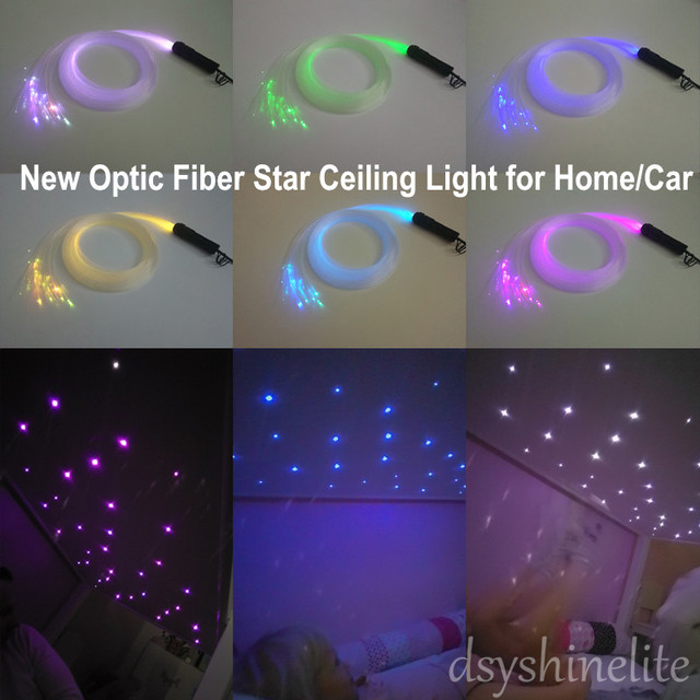 Free Shipping Diy Optic Fiber Light Stars Ceiling Lamp For Children S Room Best Gift Child