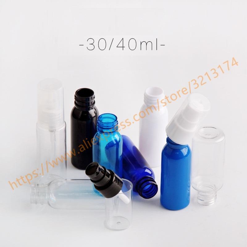 30ml40ml pretty colors PET minisamples bottle with plastic pump.lotionhand washShampoomoisturizerfacial water PET bottle