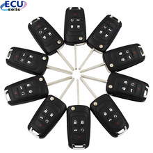 10PCS X 5 Buttons Remote Control Key Fob 433MHz With ID46 Chip for Chevrolet Cruze 2010-2014 HU100 Blade(China)