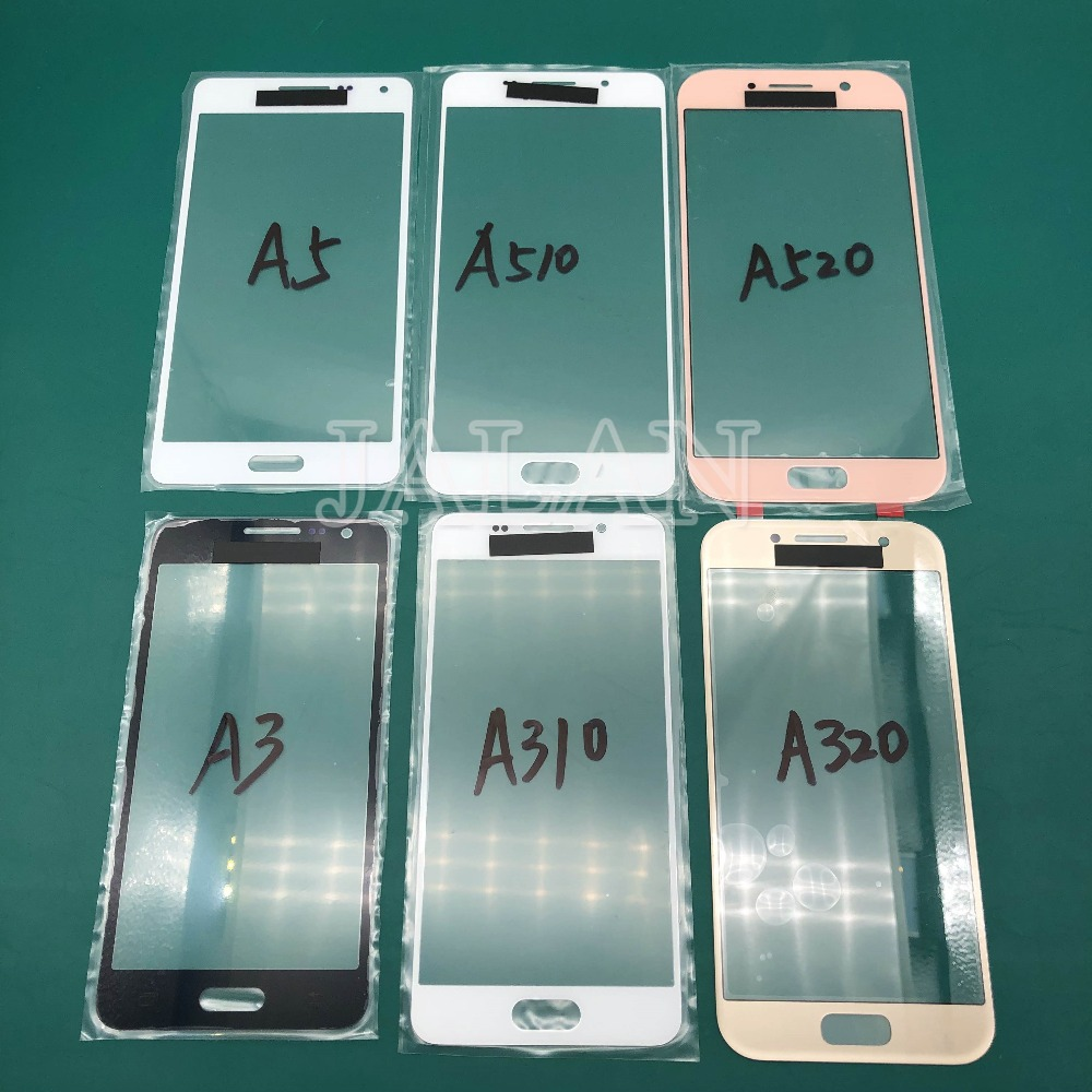 2pcs Glass For Samsung galaxy A3/A310/A320/A5/A510/A520/A7/A710/A8/A810/A910 LCD display touch screen glass laminating repair image