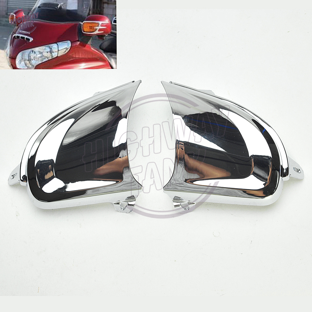 Chrome Motorcycle Front Headlight Cover Decoration Trims case for Honda Goldwing Gold Wing GL1800 2006-2014 chrome motorcycle front fairing headlight lower grill case for honda goldwing 1800 gl1800 2001 2011