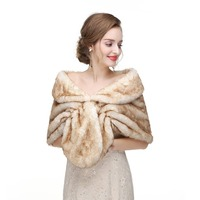 2018 Bolero Bridal Shawl Fur Faux Fox Fur Wrap Bolero Winter Warm Wedding Cape Wedding Shawl Fur Cape Bridal Cloak Bolero