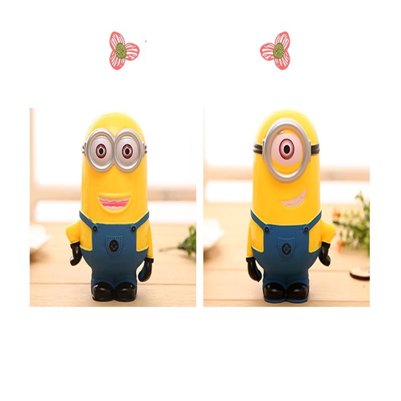 2016 New Brand Hot Sale Cute Cartoon Minions Kumbara Money Box Safes Coins Piggy Bank Despicable Me Cash Box
