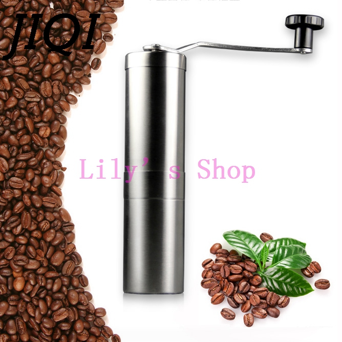 JIQI Manual Coffee Grinder Coffee beans Grinding Maker machine hand Burr Mill Precision Stainless Steel Kitchen Tools pulverizer manual coffee grinder porlex ceramic grinding coffee grinding beans portable adjustable barista mini grinder for coffee