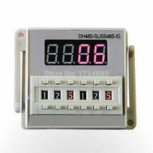 DH48S-S 12 V relè di tempo 220VAC 24VDC ciclo di ripetizione SPDT con presa DH48S di ritardo serie timer con base