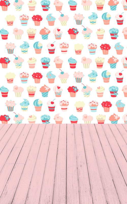 Vinyl cloth backgrounds color icecream cakes wall photography backdrops for newborn photo studio camera fotografia portrait