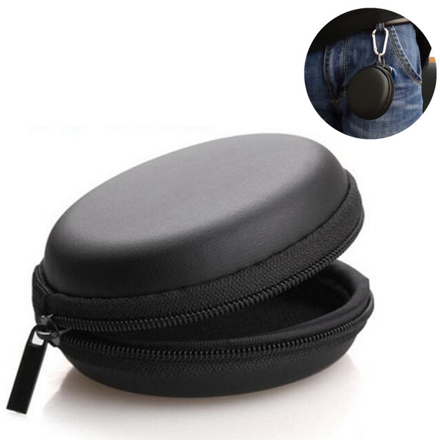 Portable SD Headphone Case Storage Carrying Hard Bag for Earphone Headphone Earbuds memory Card Accessories Outdoor Black Box