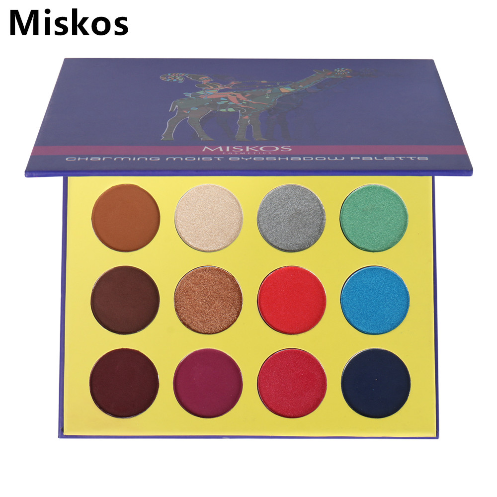 Makeup Palette Eyeshadow 16 Colors Shimmer and Shine Foiled Eye Shadow Palette Cosmetics Maquiagem Profissional Completa Makup eyeshadow palette make up palette shimmer nature glow 12 color eye shadow set cosmetics sombra maquiagem profissional completa