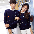 Couple Christmas Sweaters Winter Men Women Crewnecks Pullovers  O Neck Geometric Pull Knitwears Jersey Mujer Hombre