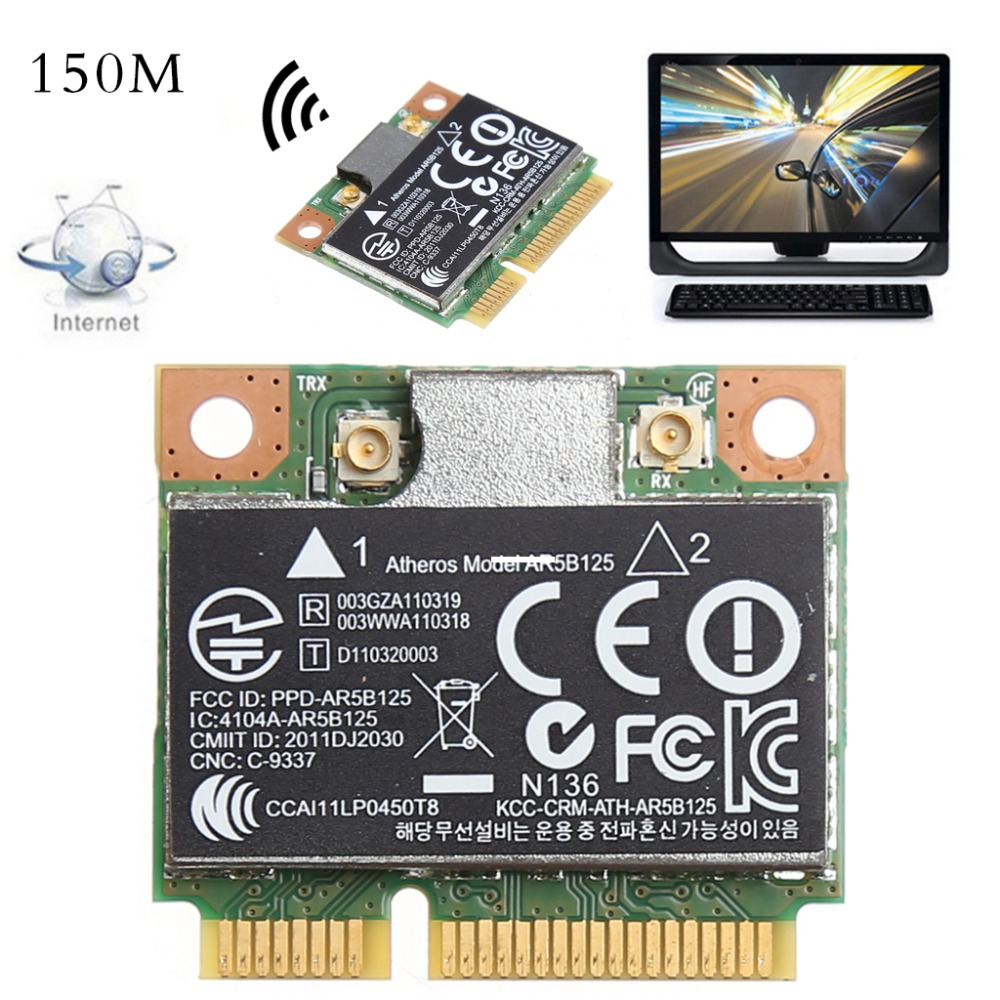 150M WiFi WLAN PCI-E Wireless Card Adapter For Atheros AR5B125 SPS 675794-001 For HP PN 670036-001 C26