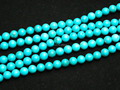 Free shipping (5 strands/set) 6mm blue turquoise  round  jewerly beads  loose strand wholesale