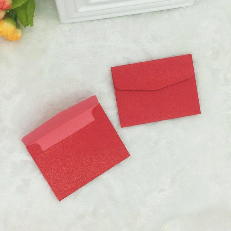 Купить с кэшбэком 100 pcs/set Vintage Small Mini Kraft Paper Window Envelopes wedding invitation envelope gift envelope Ancien100 *75mm iridescent