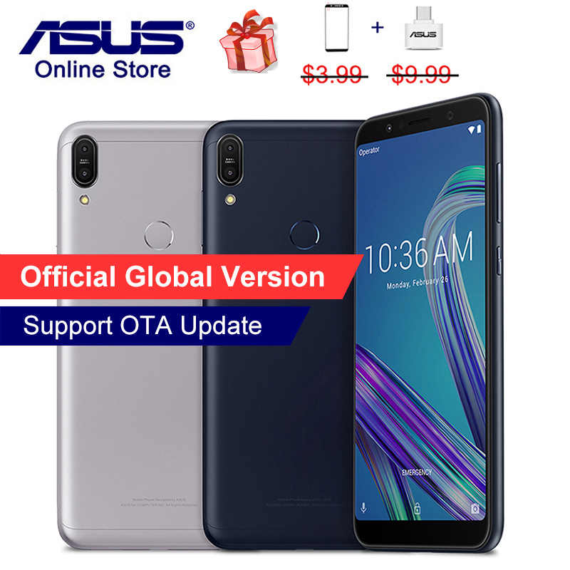 Global ASUS ZenFone Max Pro M1, ZB602KL X00TD, Mobile Phone Snapdragon 636, 6GB 64GB/4GB 128GB, 6inch 18:9, 4G LTE Smartphone