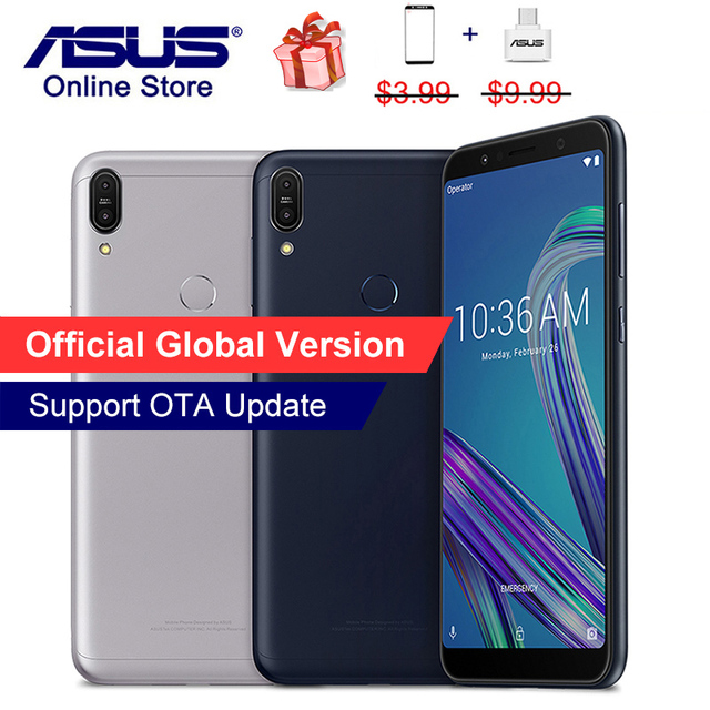 Global Version, ASUS ZenFone Max Pro M1 ZB602KL X00TD Mobile Phone, Snapdragon 636, 6GB 64GB, 6inch 18:9, 4G LTE Smartphone