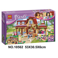 594pcs Legoings Friends For Girl Heartlake Riding Club Horse Stables Block Set Mia Stephanie Building Toy Compatible with 41126