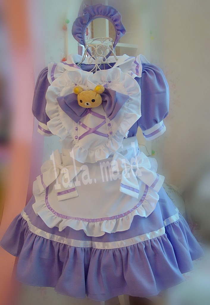 Unisex short adult baby dress Fancy dress sissy lolita cosplay ruffle 6 row lace
