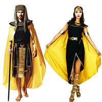 Anime Cosplay for Cleopatra Pharaoh for Egyptian Pharaoh Queen Masquerade Party Vestidos Jumpsuit Costumes for Adult Halloween