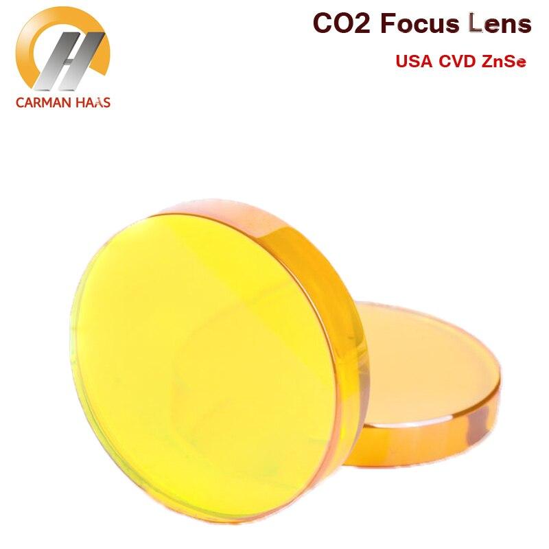 Livraison Gratuite CO2 Lentille de Focalisation USA ZnSe Lentille de Focalisation Laser Lentille de Focalisation Dia. 16mm FL 50.8mm