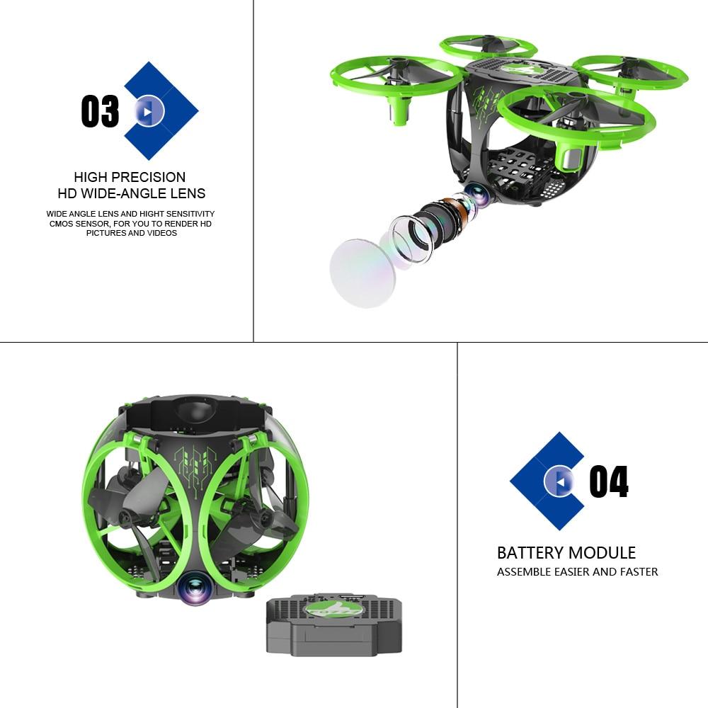 FQ26 WiFi FPV Mini Drone Quadrocopter with Camera 0.3MP Altitude Hold G-sensor Foldable Dron Quadrupter APP Phone Control RTF (2)