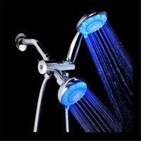 高品質水パワー led デュアル シャワー ヘッド