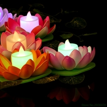 Waterproof LED Lotus Flower Night Light Garden Pool Pond Lamp Decor Colorful New Drop Ship Support
