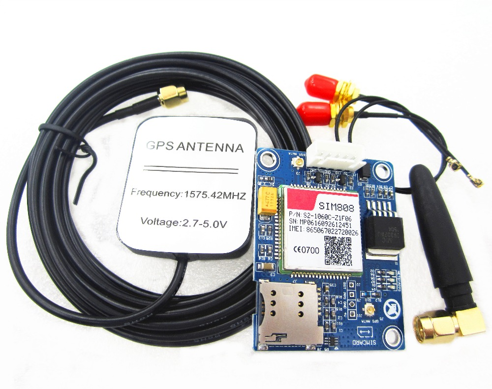 100% new SIM808 instead of SIM908 module GSM GPRS GPS Development Board IPX SMA module amenability of banach algebras