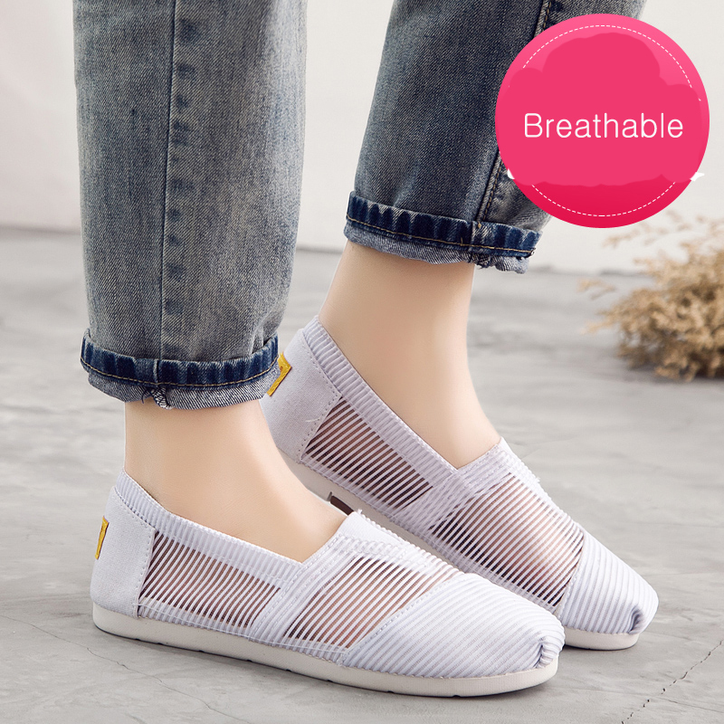2018 Women's Breathable Flat Shoes Lazy's Espadrilles Women's Canvas Shoes Girl Loafers Espadrilles Women Flats Shoes Size Mesh luxury women genuine leather handbags ladies retro elegant shoulder messenger bag cow leather handmade womans bags