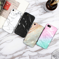 Fashion Granite Scrub Coral Marble Phone Case For Iphone 7 Soft IMD Tpu Back Cover Coque