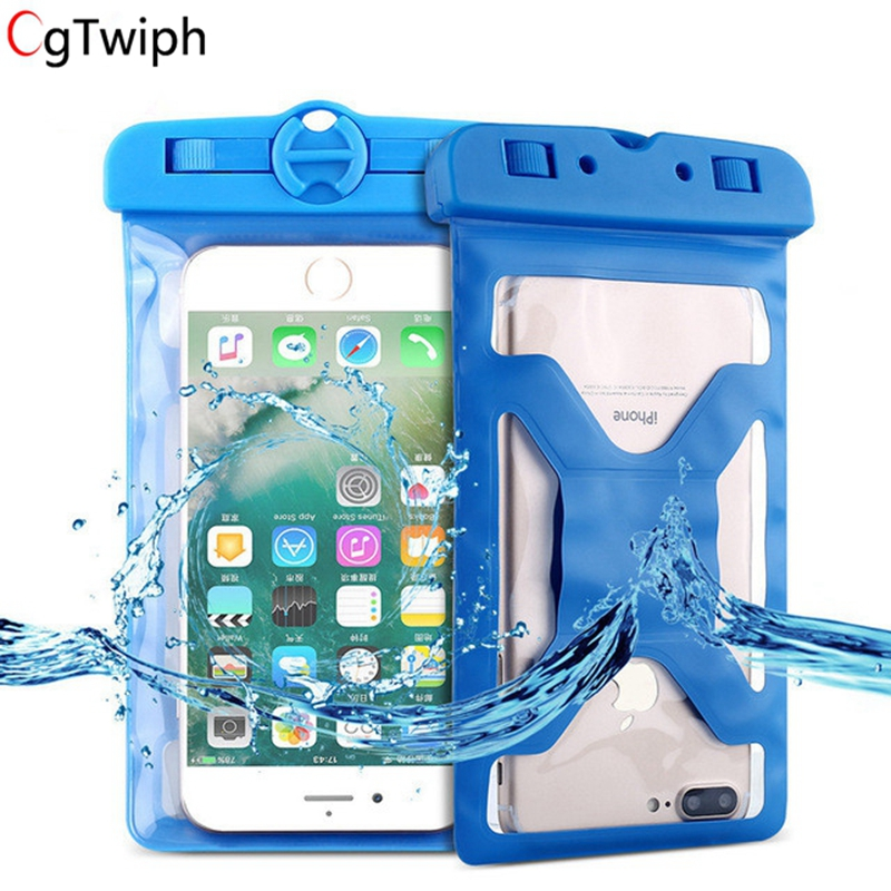 Universal Waterproof Phone Case For Xiaomi Huawei 6.2 inch IPX8 Underwater Pouch Cover For iPhone Samsung S9 S8 Plus S7 Bags