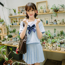 Japanese navy wind female students loaded class service uniforms jk cute kawaii sailor suit school