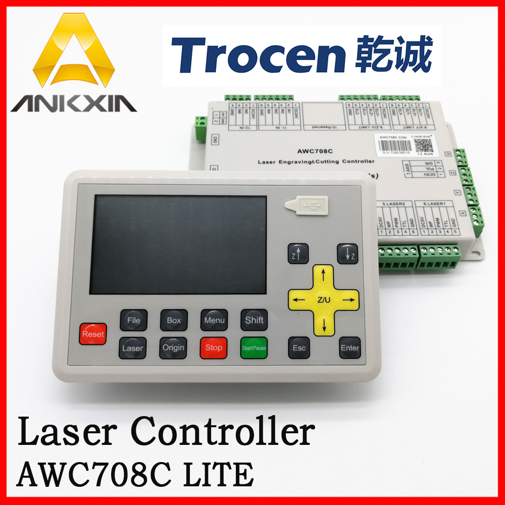Trocen Anywells AWC708C LITE Co2 Laser Controller Board Card System For Laser Cutting Machine Engraving Machine