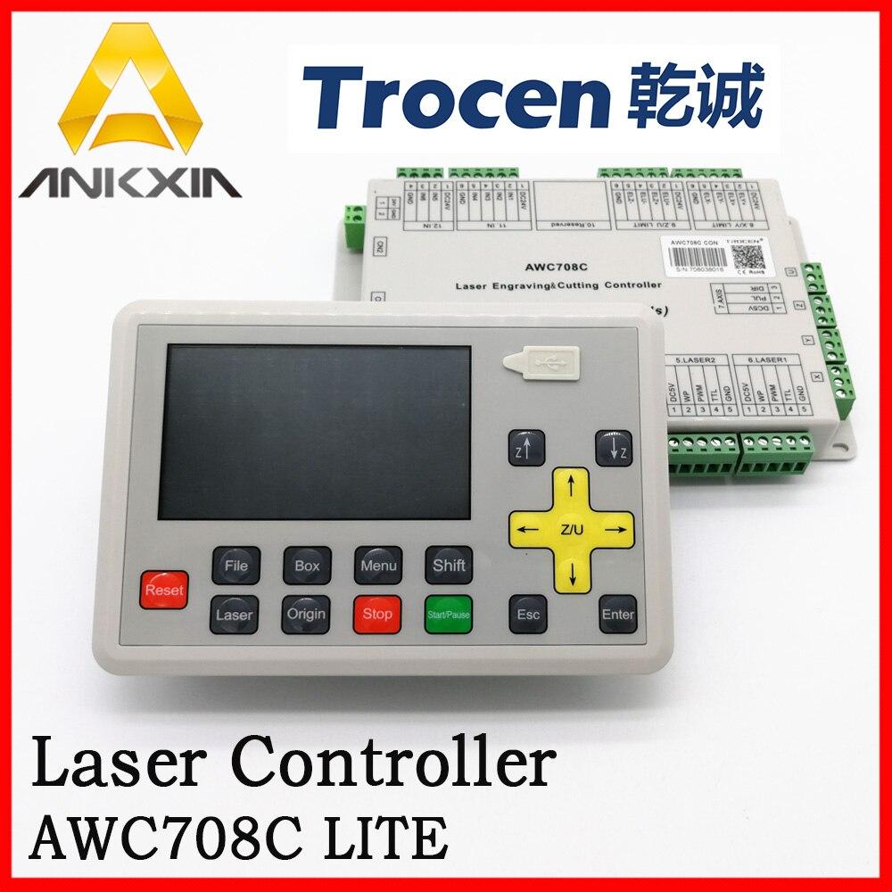 Trocen de Gravure Anywells AWC708C LITE Co2 Laser Contrôleur Conseil Carte Système Pour Laser Machine De Découpe Machine De Gravure
