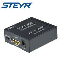 Steyr AV для HDMI конвертер RCA2HDMI адаптер Mini Composite CVBS, чтобы HDMI конвертер AV2HDMI 720 P/1080 P в Пластик или из металла