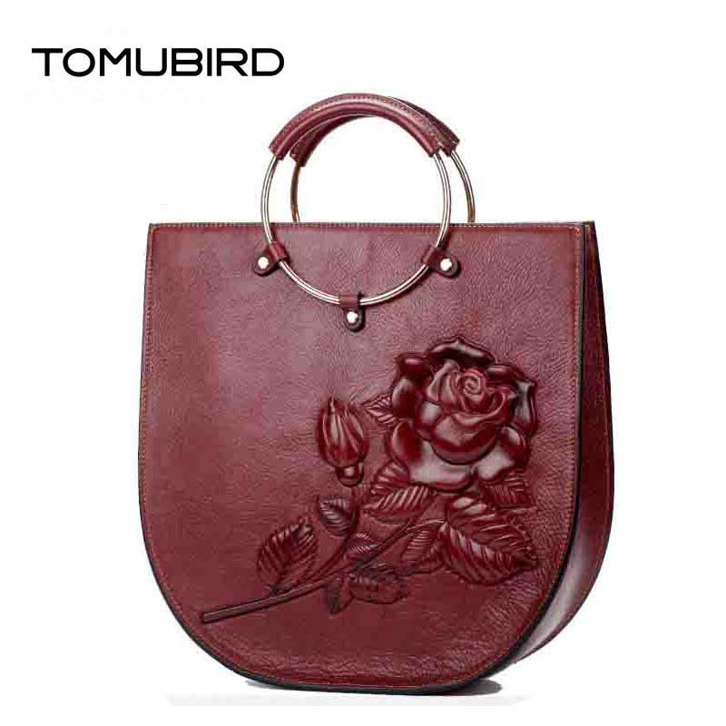 2019 New Superior cowhide luxury real leather rose embossed bags designer women genuine leather bag handbags shoulder bag