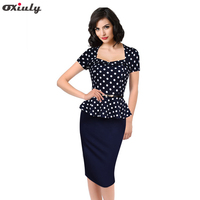 2014 Women Cute Summer Square Collar Puff Sleeve Natural Knee Length Party Wear To Work Casual