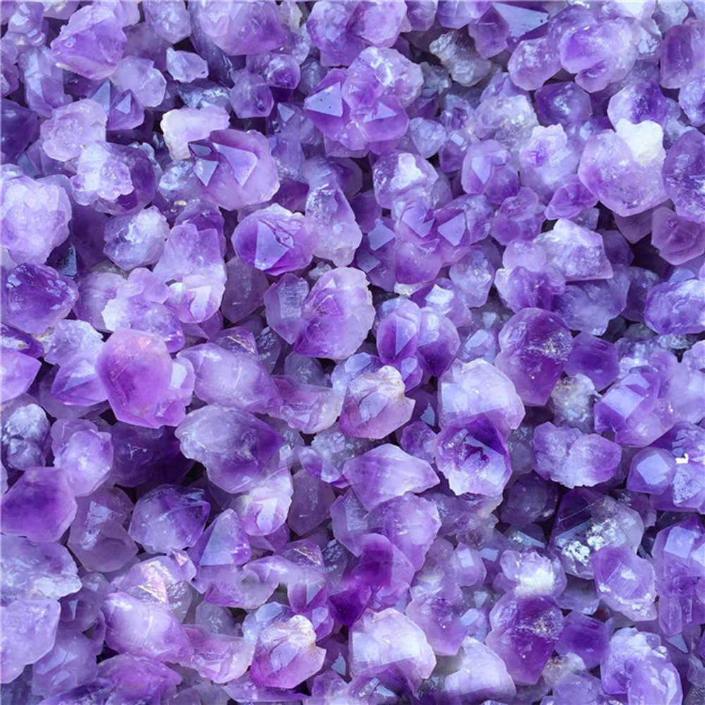 Natural Hexagonal Crystal Quartz Healing Fluorite Wand Stone Purple Purple Gem F5